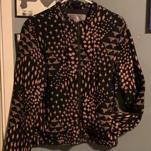 Black and coral pattern Jacket